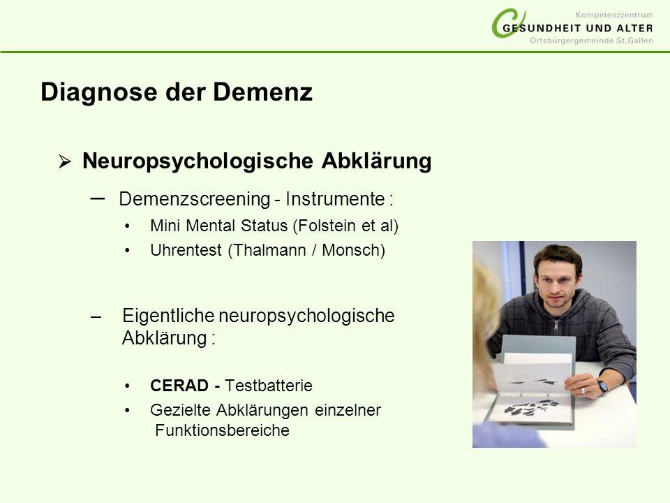 Demenzscreening - Instrumente :