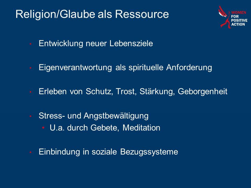 Religion/Glaube als Ressource