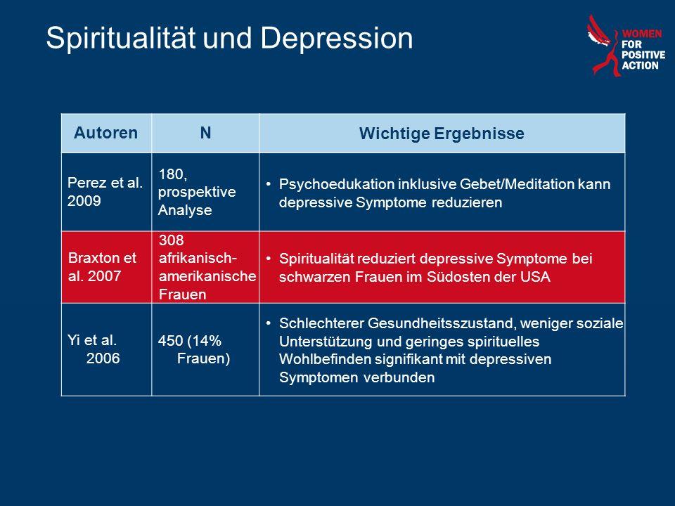 Spiritualität und Depression