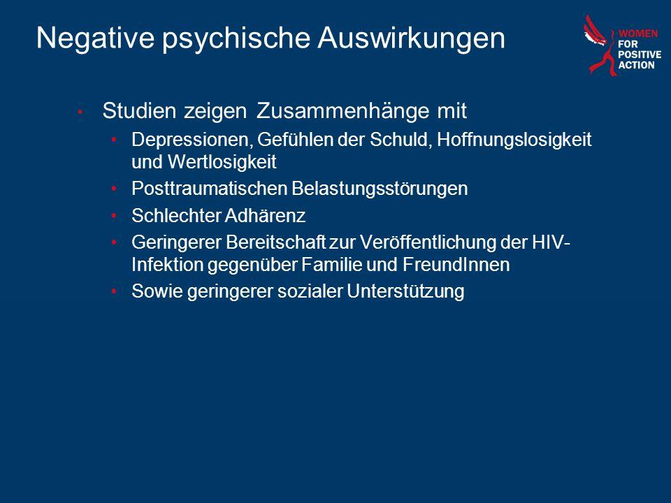 Negative psychische Auswirkungen