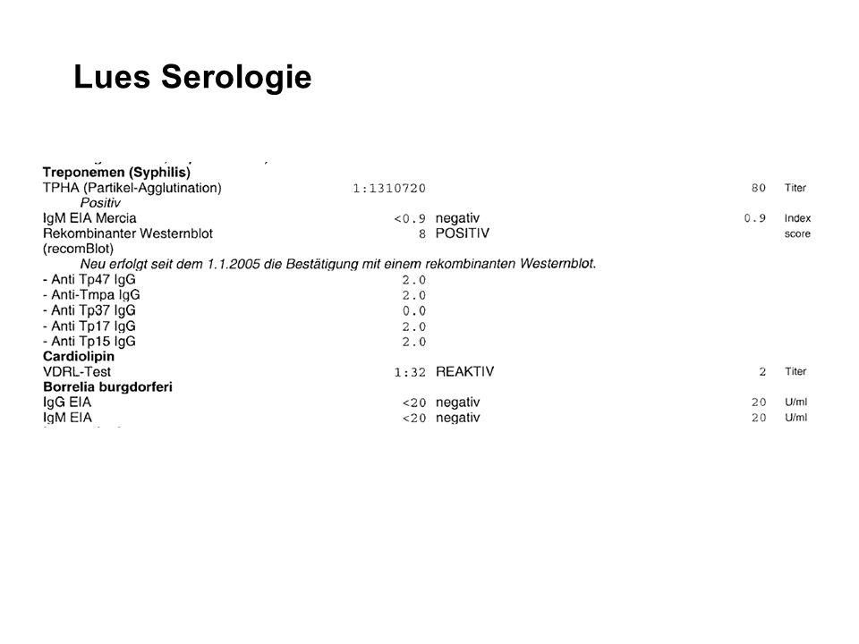 Lues Serologie