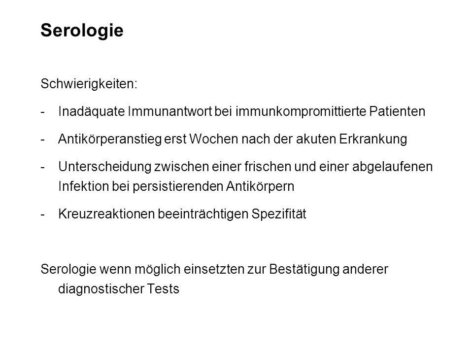Serologie Schwierigkeiten: