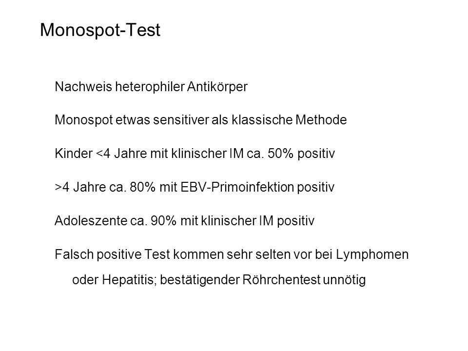 Monospot-Test Nachweis heterophiler Antikörper