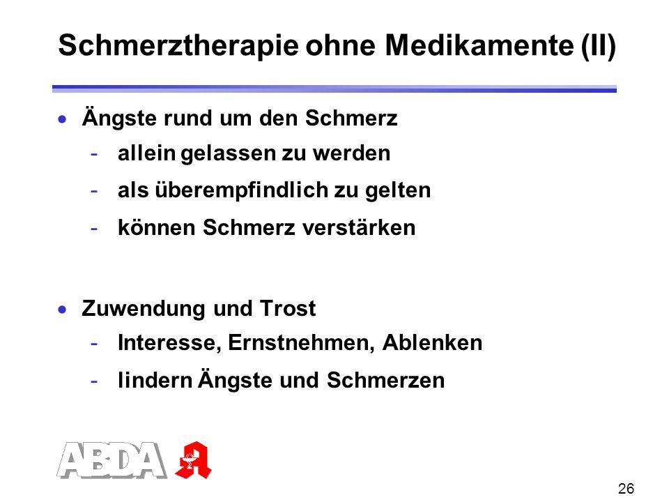 Schmerztherapie ohne Medikamente (II)