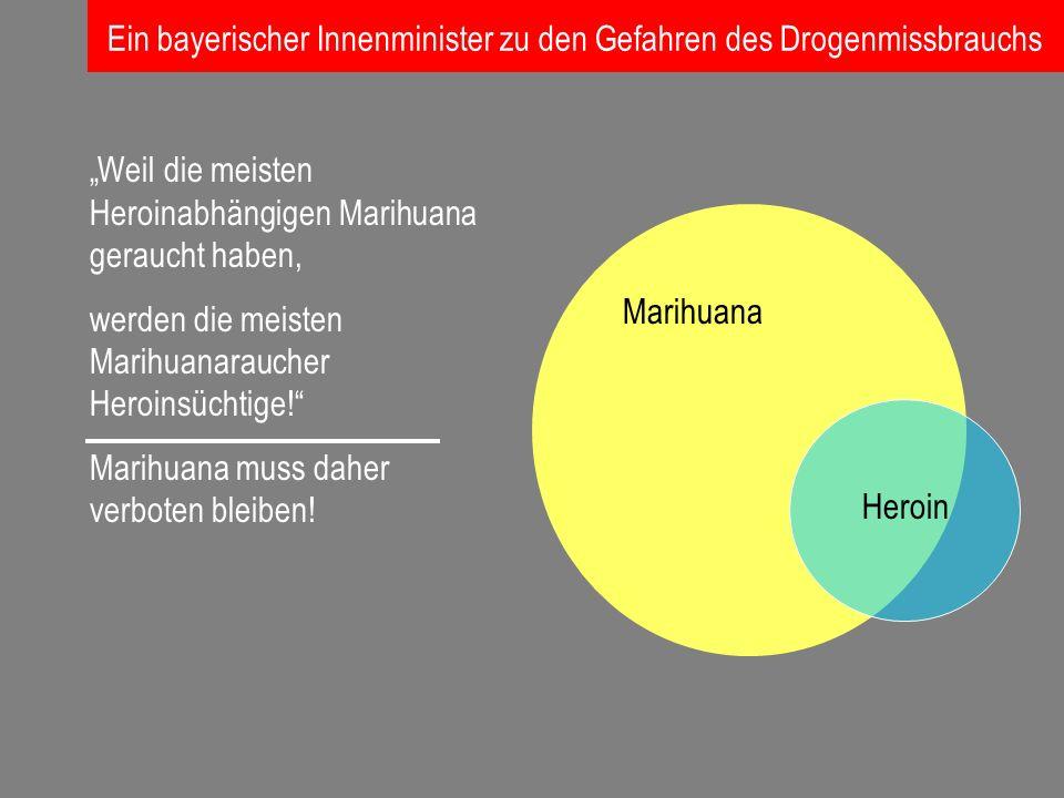Ein bayerischer Innenminister zu den Gefahren des Drogenmissbrauchs