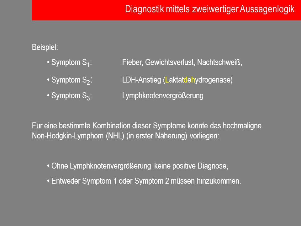 Diagnostik mittels zweiwertiger Aussagenlogik