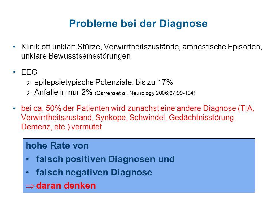 Probleme bei der Diagnose