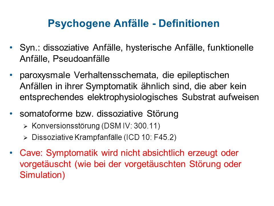 Psychogene Anfälle - Definitionen