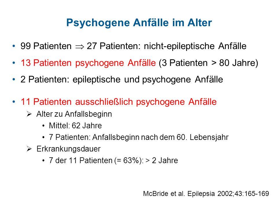 Psychogene Anfälle im Alter