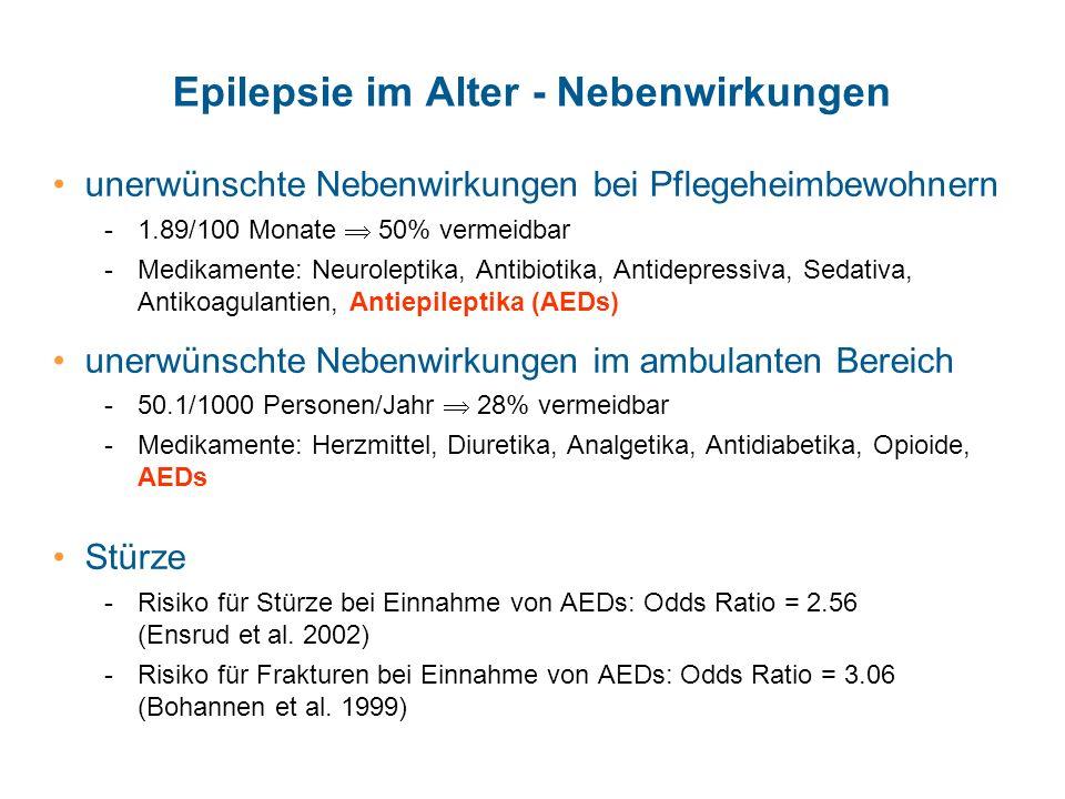 Epilepsie im Alter - Nebenwirkungen