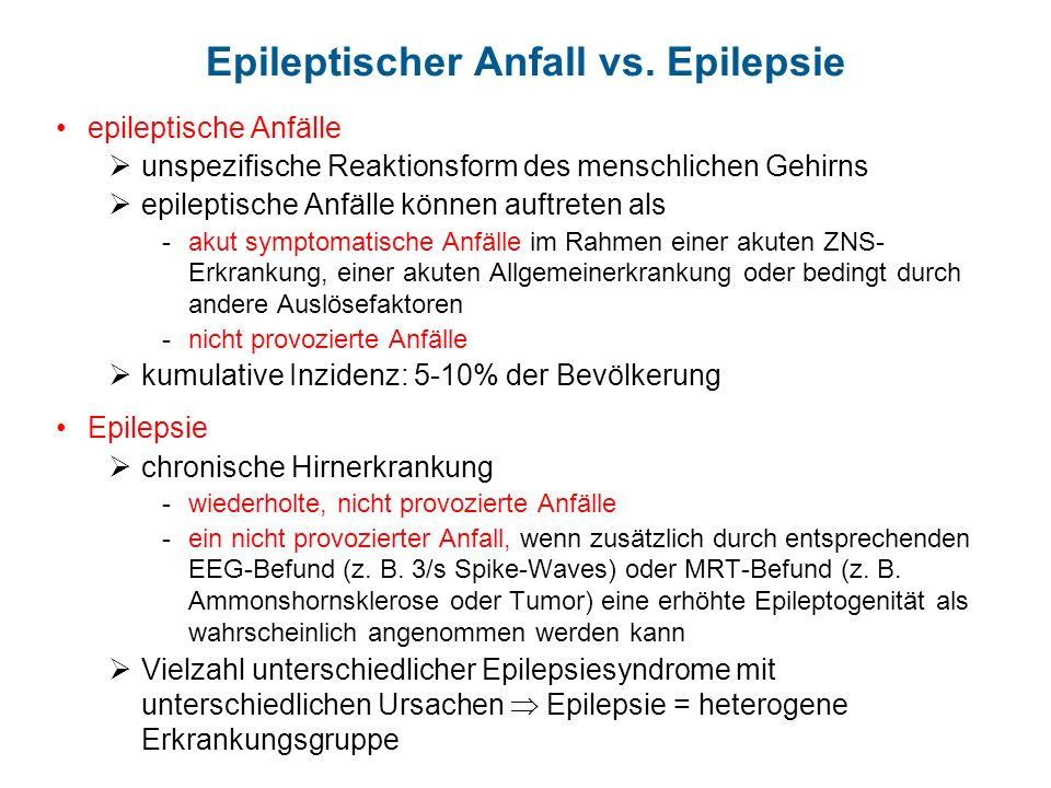 Epileptischer Anfall vs. Epilepsie