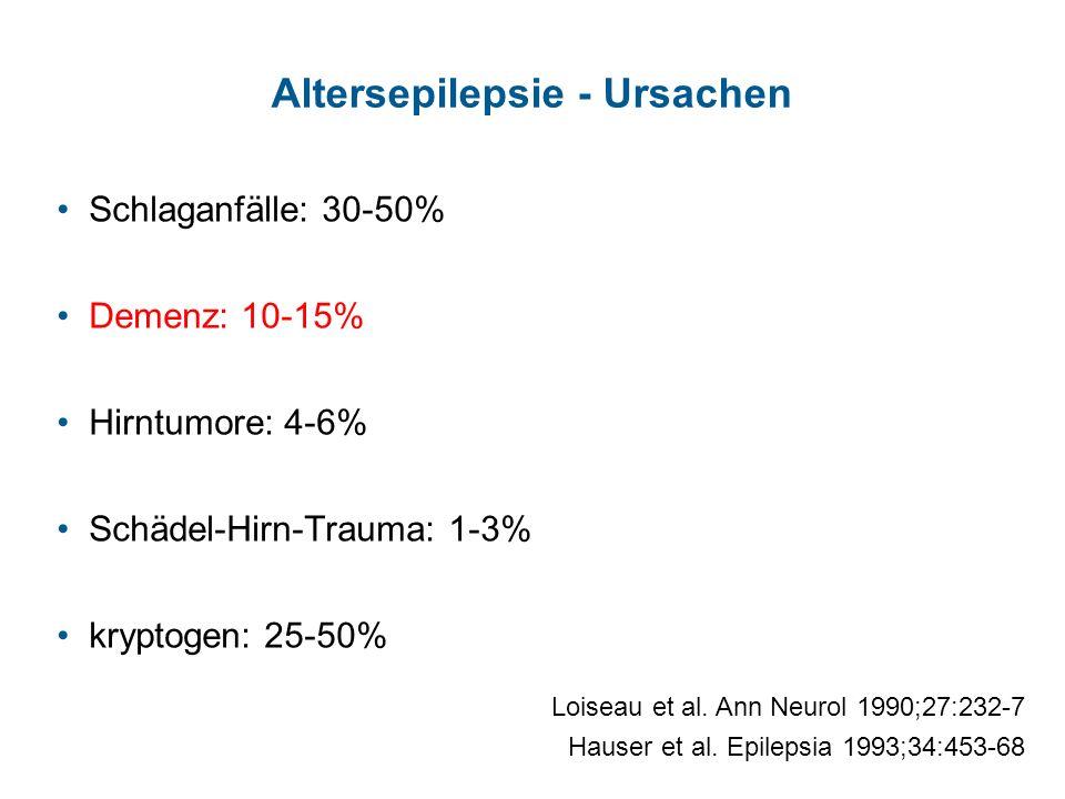 Altersepilepsie - Ursachen