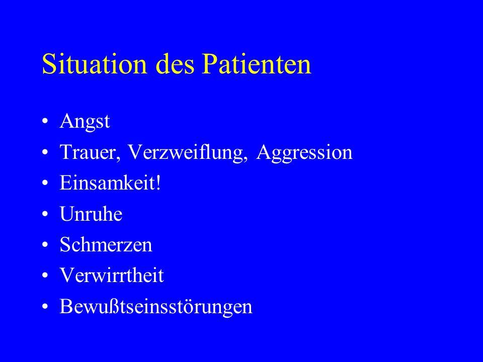 Situation des Patienten