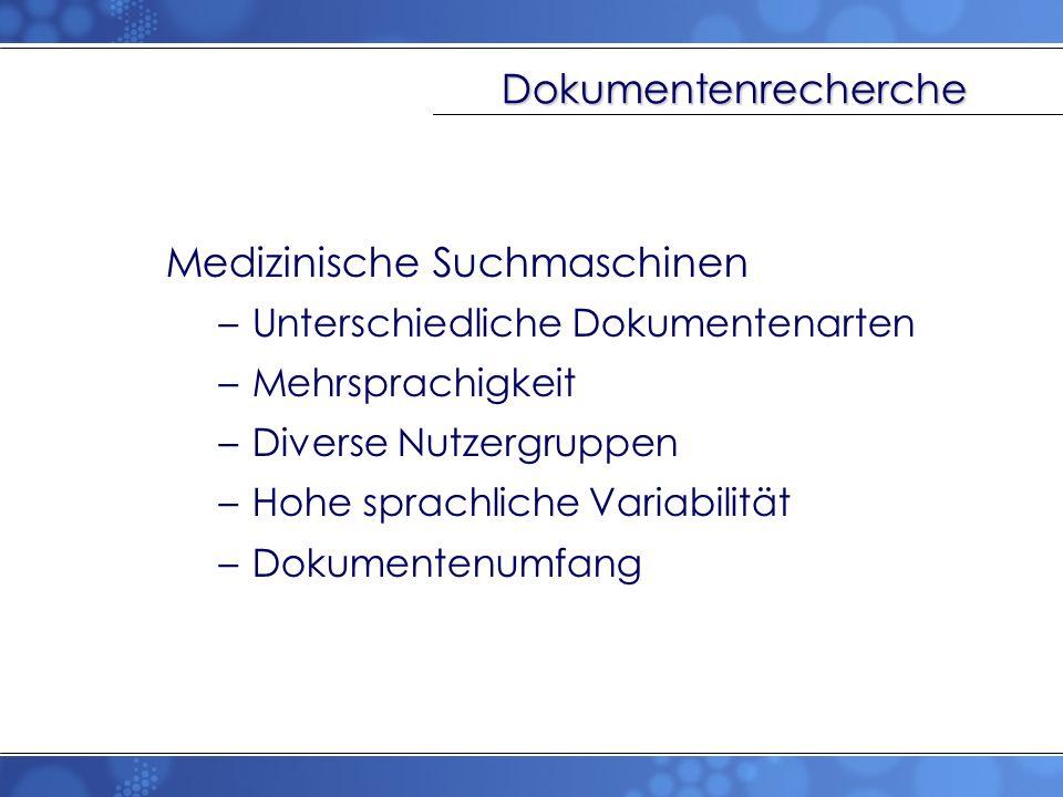 Medizinische Suchmaschinen