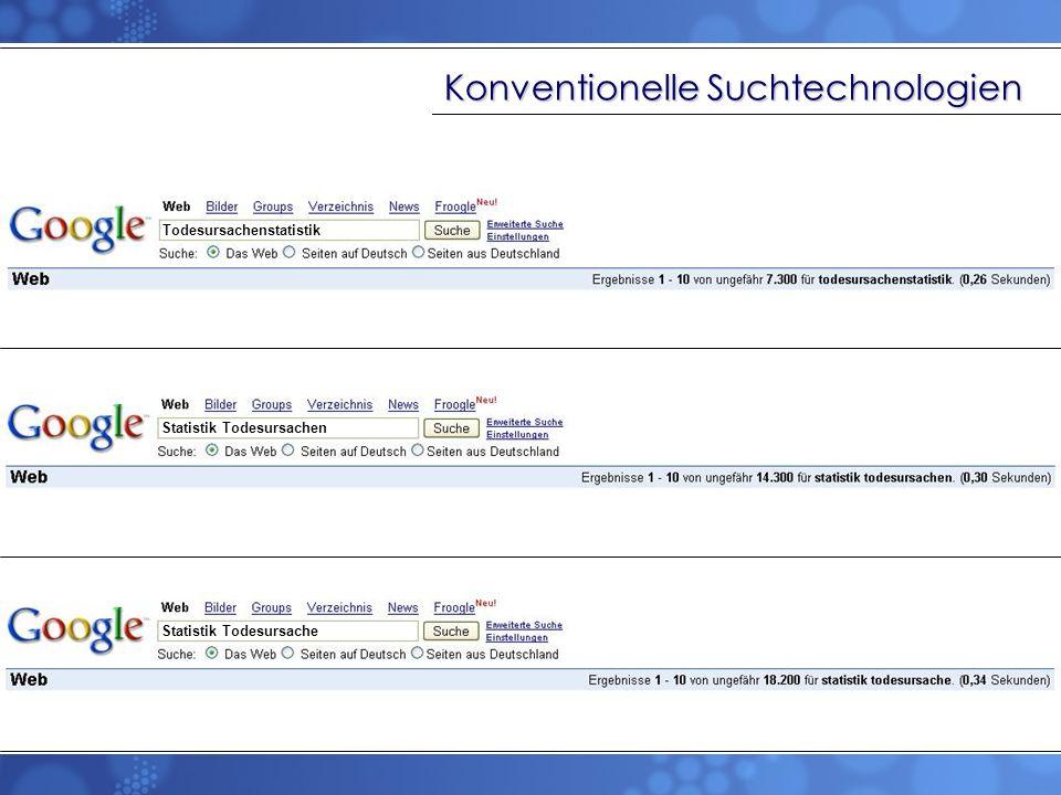 Konventionelle Suchtechnologien