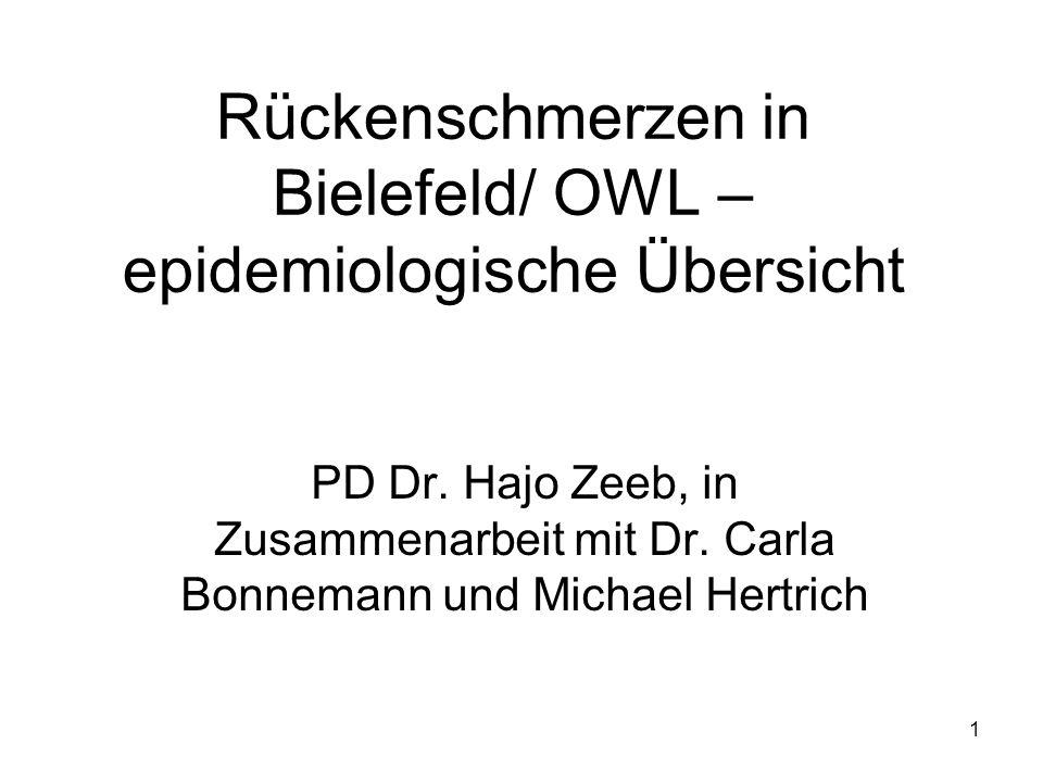 Rückenschmerzen in Bielefeld/ OWL – epidemiologische Übersicht