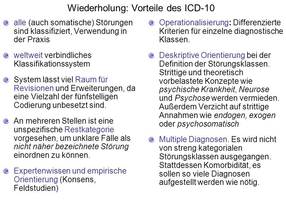 Wiederholung: Vorteile des ICD-10