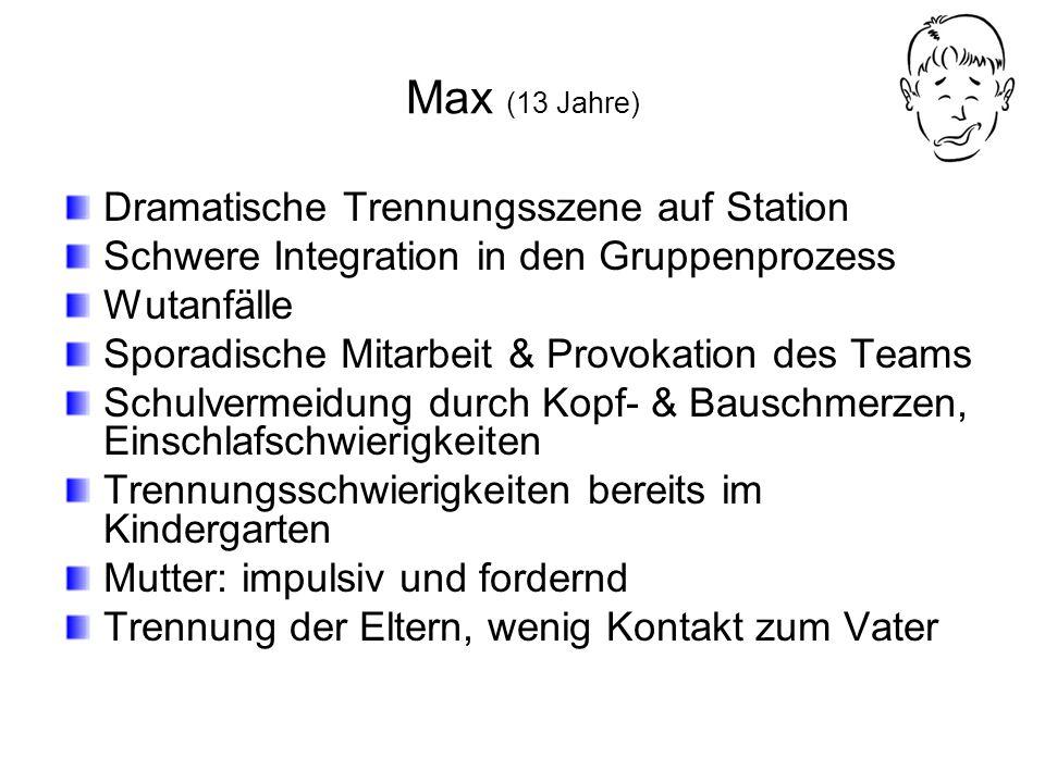 Max (13 Jahre) Dramatische Trennungsszene auf Station