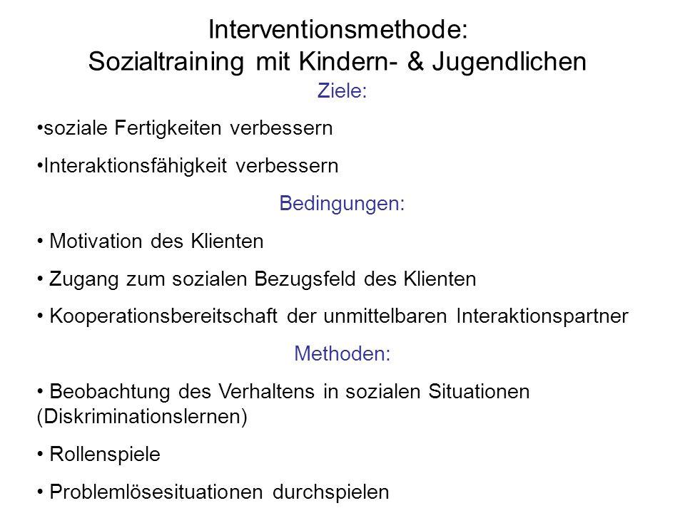 Interventionsmethode: Sozialtraining mit Kindern- & Jugendlichen