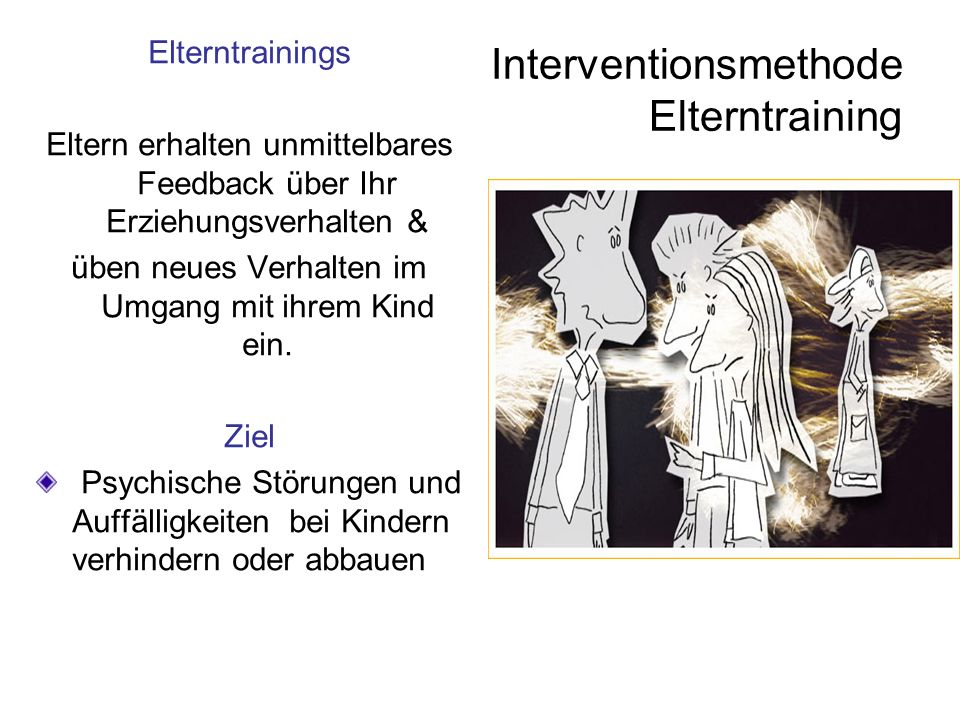 Interventionsmethode Elterntraining