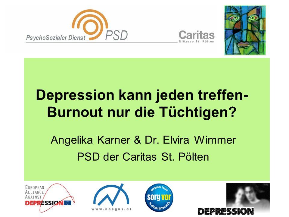 Depression kann jeden treffen- Burnout nur die Tüchtigen