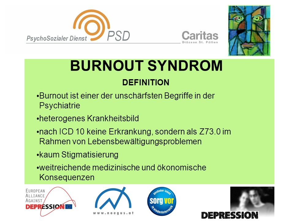 BURNOUT SYNDROM DEFINITION