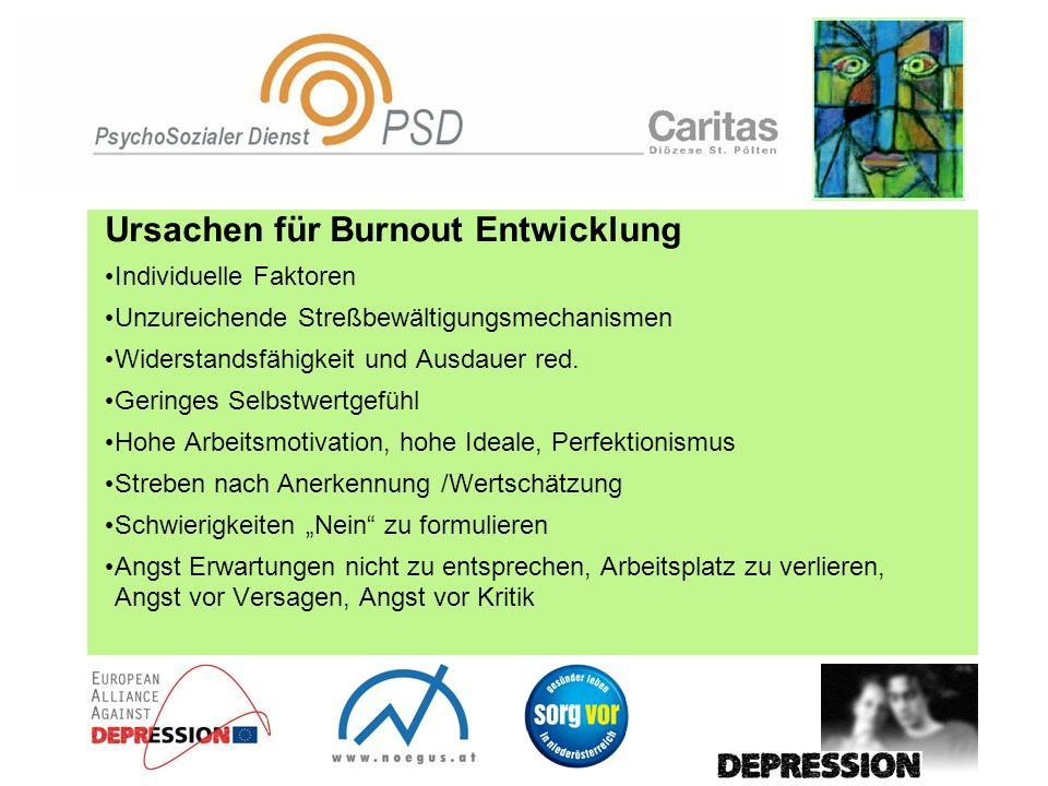 Ursachen für Burnout Entwicklung