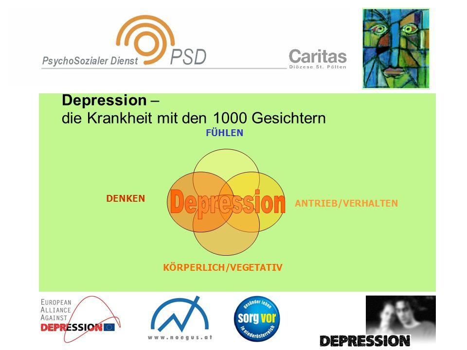Depression – die Krankheit mit den 1000 Gesichtern