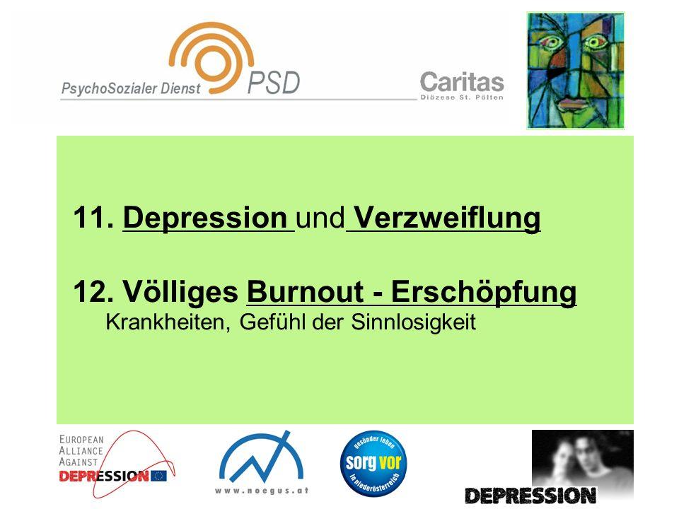 11. Depression und Verzweiflung