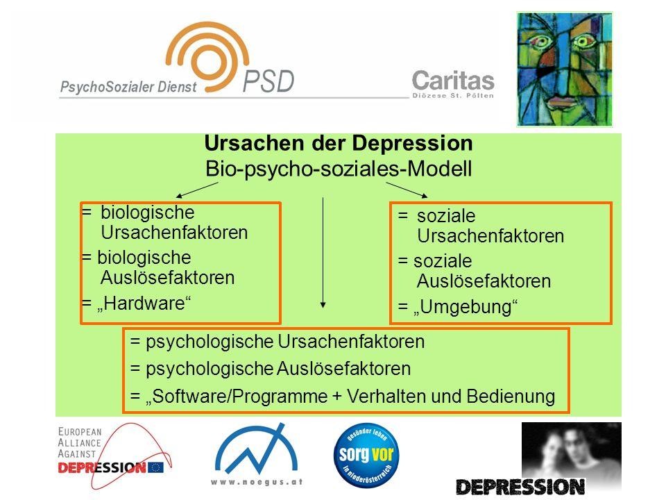 Ursachen der Depression Bio-psycho-soziales-Modell
