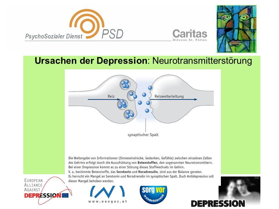 Ursachen der Depression: Neurotransmitterstörung