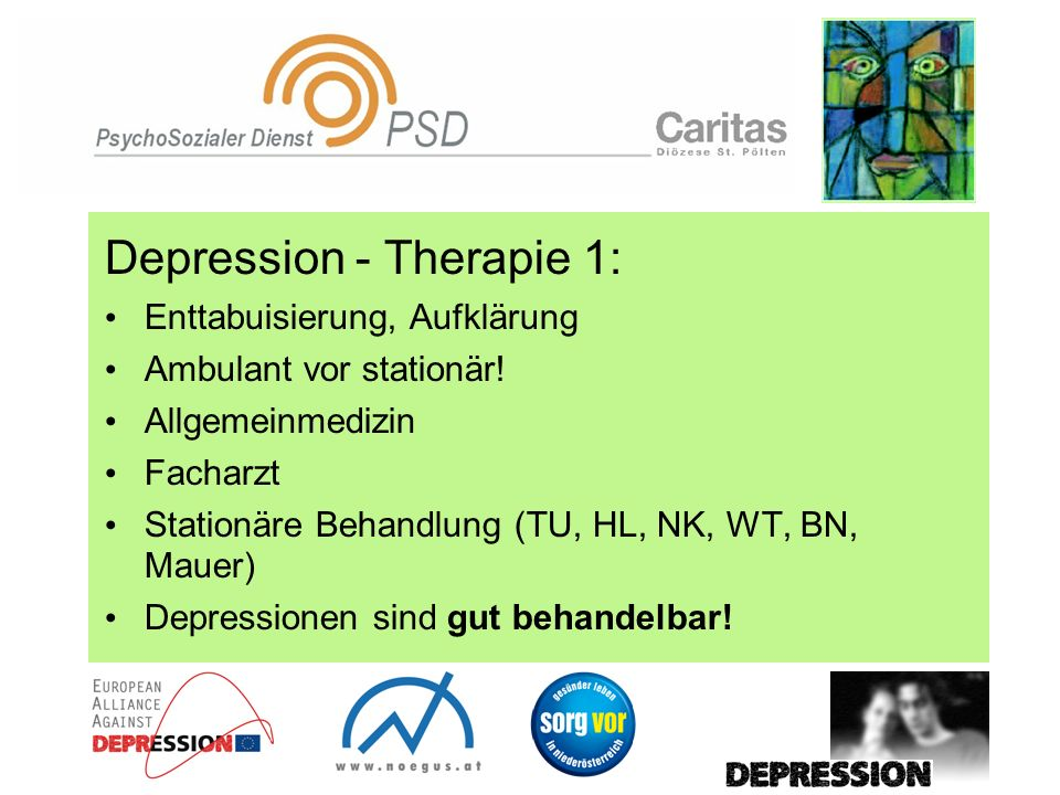 Depression - Therapie 1:
