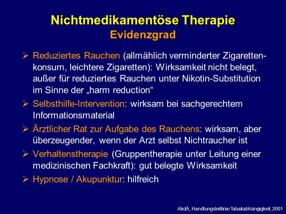 Nichtmedikamentöse Therapie Evidenzgrad