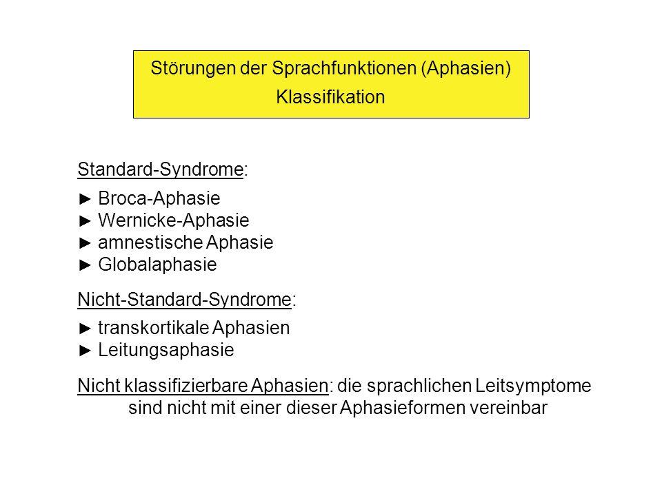 Störungen der Sprachfunktionen (Aphasien)