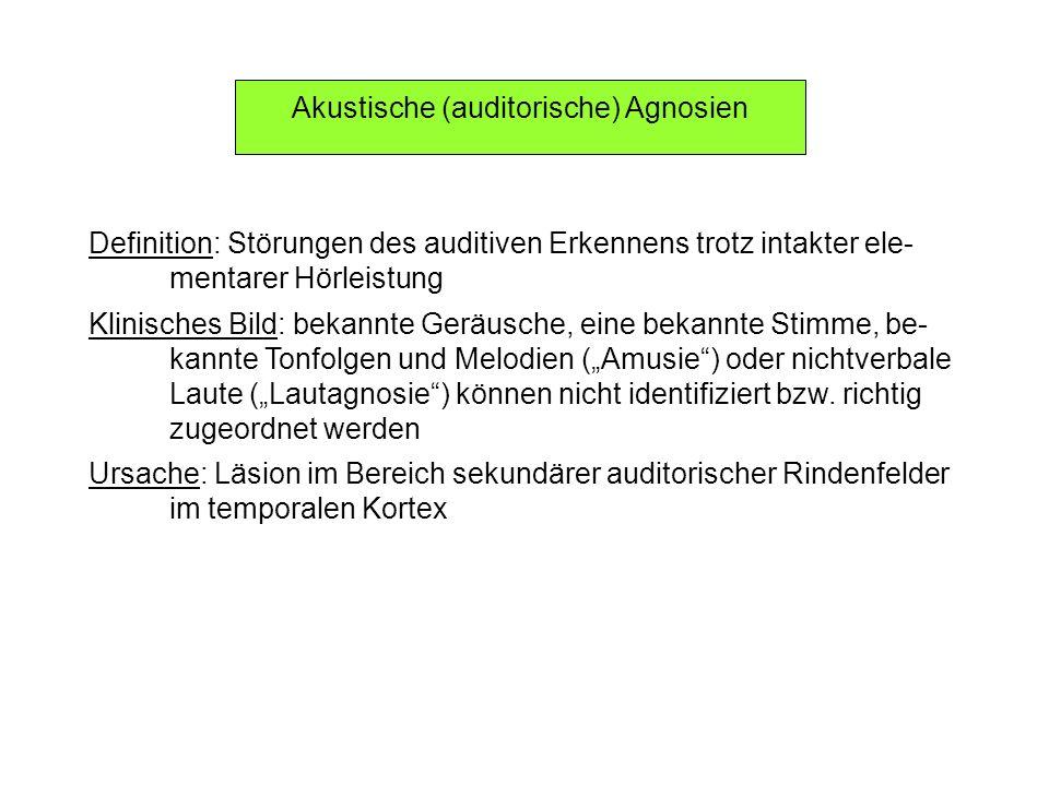 Akustische (auditorische) Agnosien
