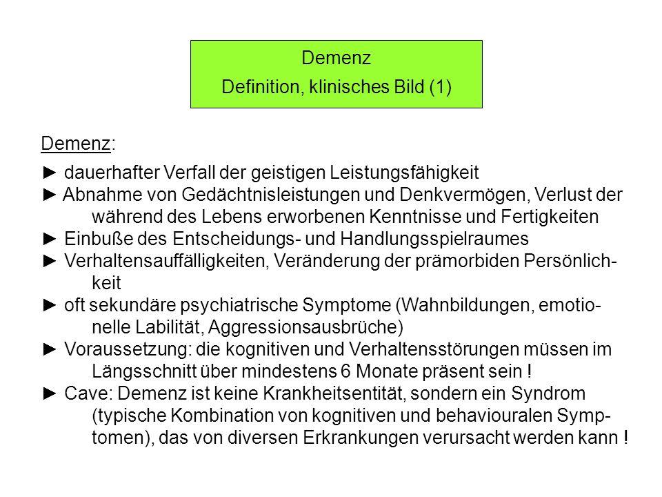 Definition, klinisches Bild (1)