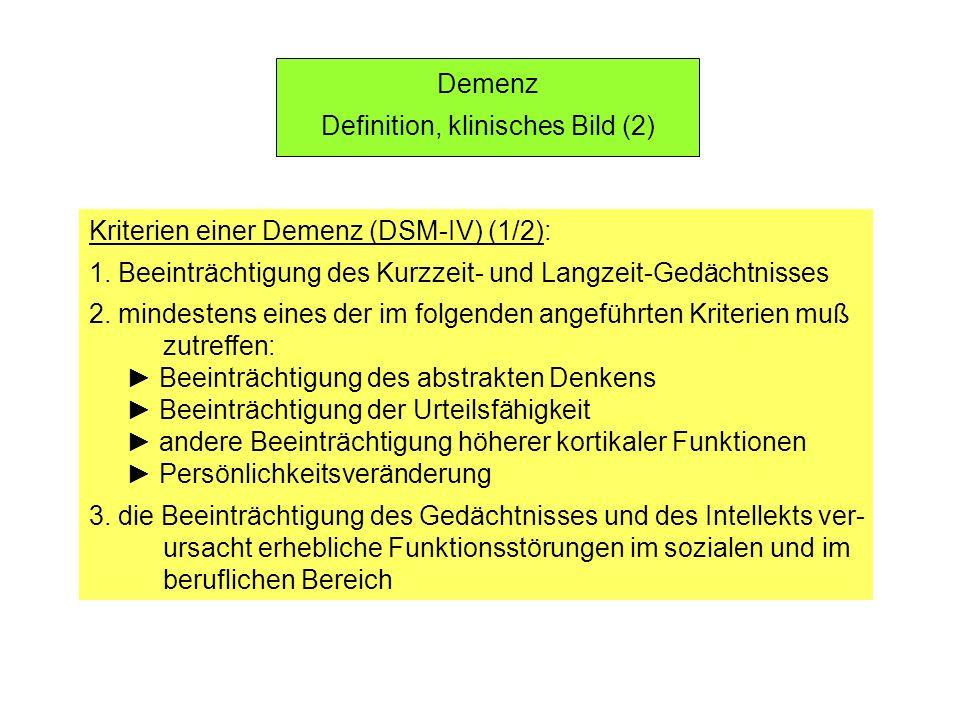 Definition, klinisches Bild (2)