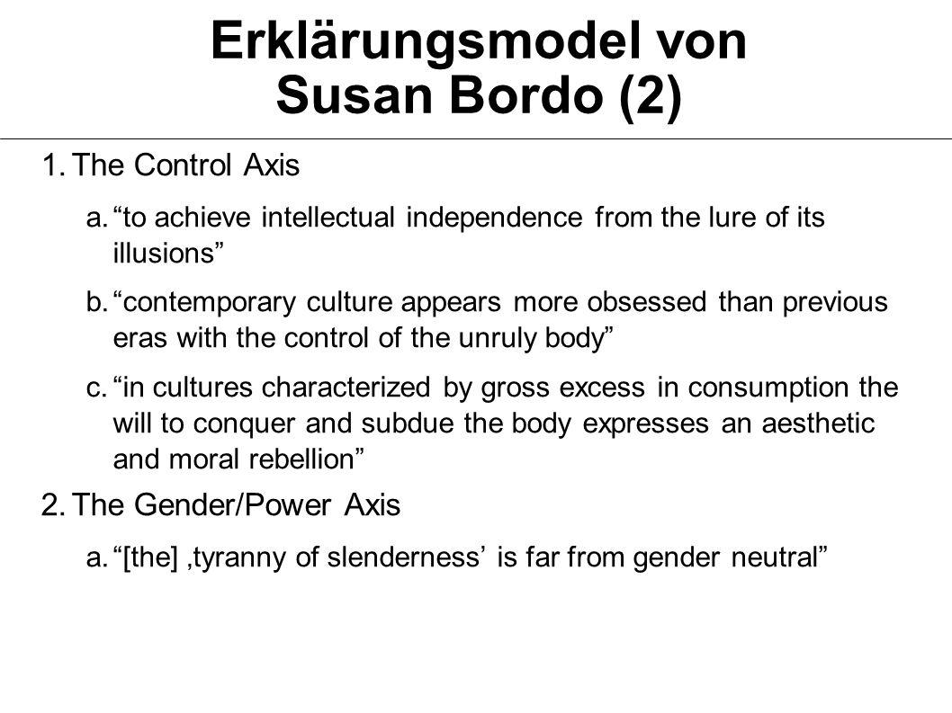 Erklärungsmodel von Susan Bordo (2)