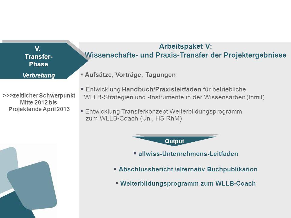 Arbeitspaket V: allwiss-Unternehmens-Leitfaden