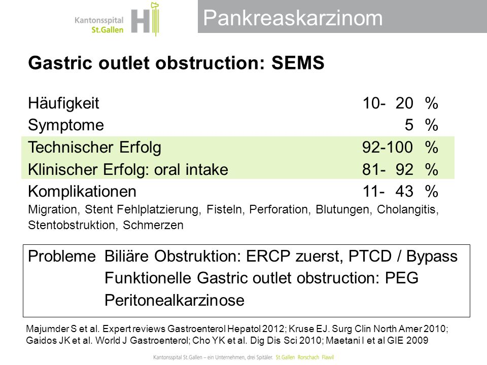 Gastric outlet obstruction: SEMS