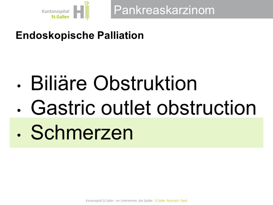 Endoskopische Palliation