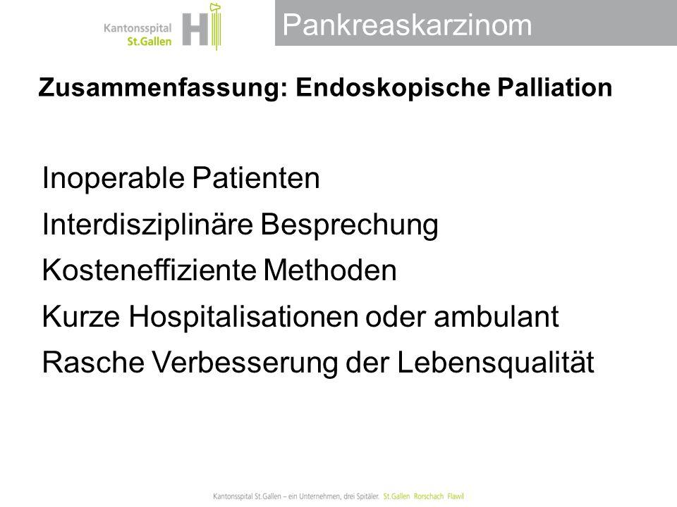 Zusammenfassung: Endoskopische Palliation