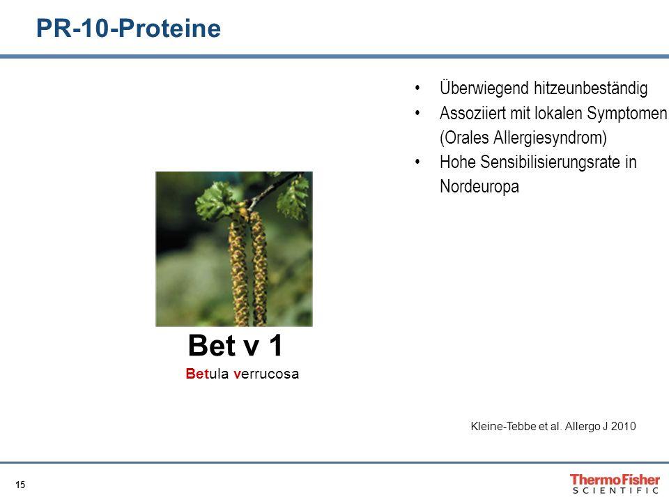 Bet v 1 PR-10-Proteine Überwiegend hitzeunbeständig
