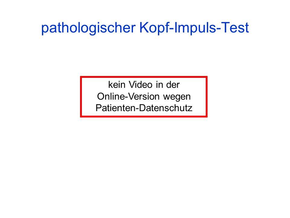 pathologischer Kopf-Impuls-Test