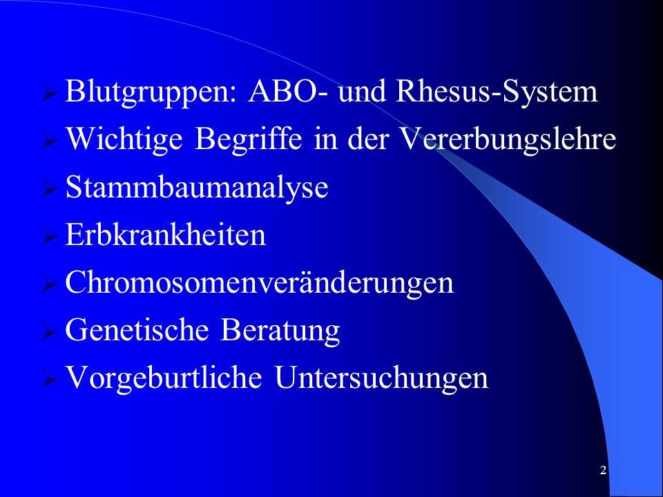 Blutgruppen: ABO- und Rhesus-System
