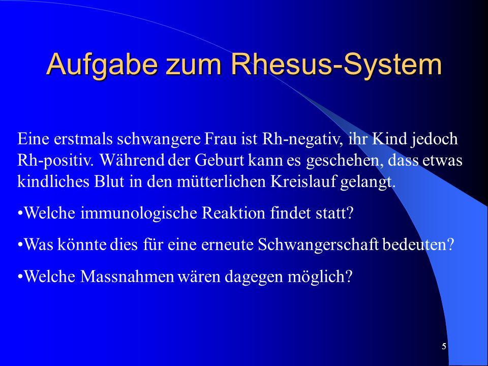Aufgabe zum Rhesus-System