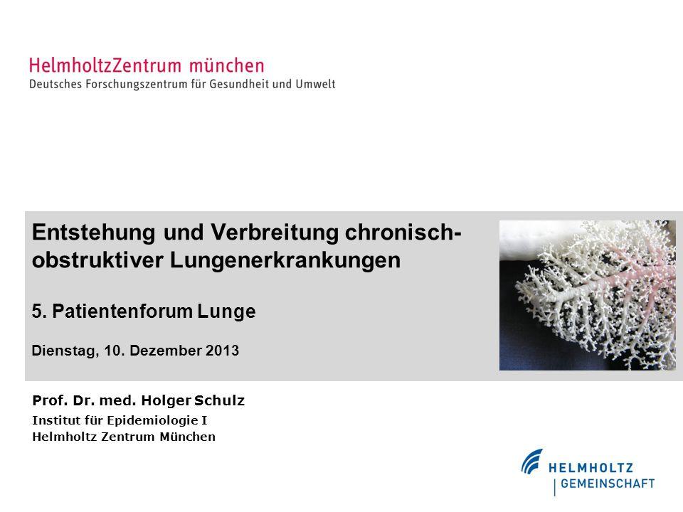 Entstehung und Verbreitung chronisch-obstruktiver Lungenerkrankungen 5