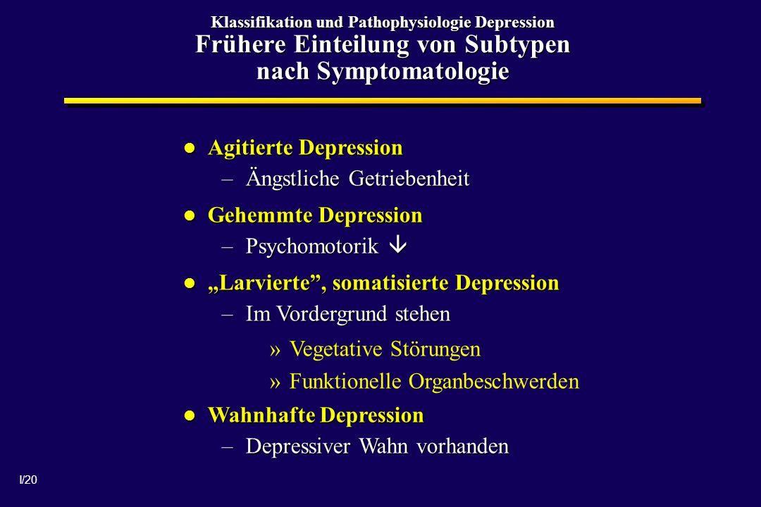 Ängstliche Getriebenheit Gehemmte Depression Psychomotorik 