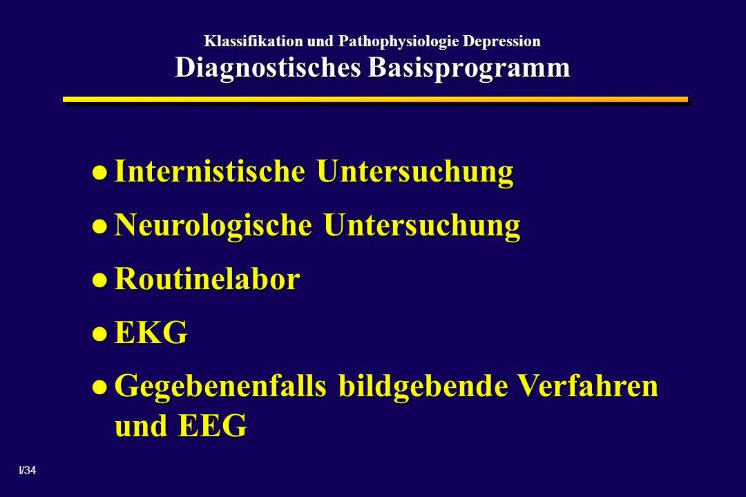 Internistische Untersuchung Neurologische Untersuchung Routinelabor