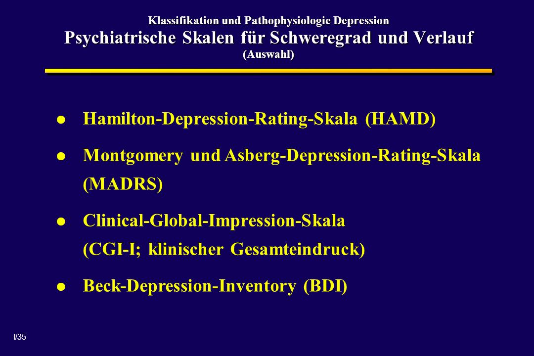Hamilton-Depression-Rating-Skala (HAMD)